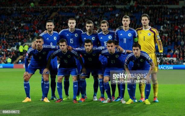 Bosnia and Herzegovina team group Vedad Ibisevic Toni Sunjic TinoSven Susic Senad Lulic Edin Dzeko and Asmir Begovic Haris Medunjanin Miralem Pjanic...