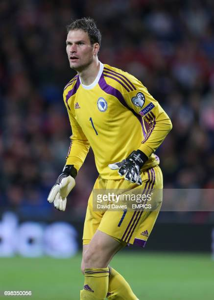 Bosnia Herzegovina goalkeeper Amir Begovic