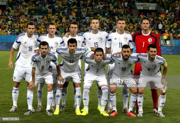 Bosnia Herzegovina team group Senad Lulic Izet Hajrovic Zvjezdan Misimovic Toni Sunjic Edin Dzeko Asmir Begovic Miralem Pjanic Mensur Mujdza Muhamed...