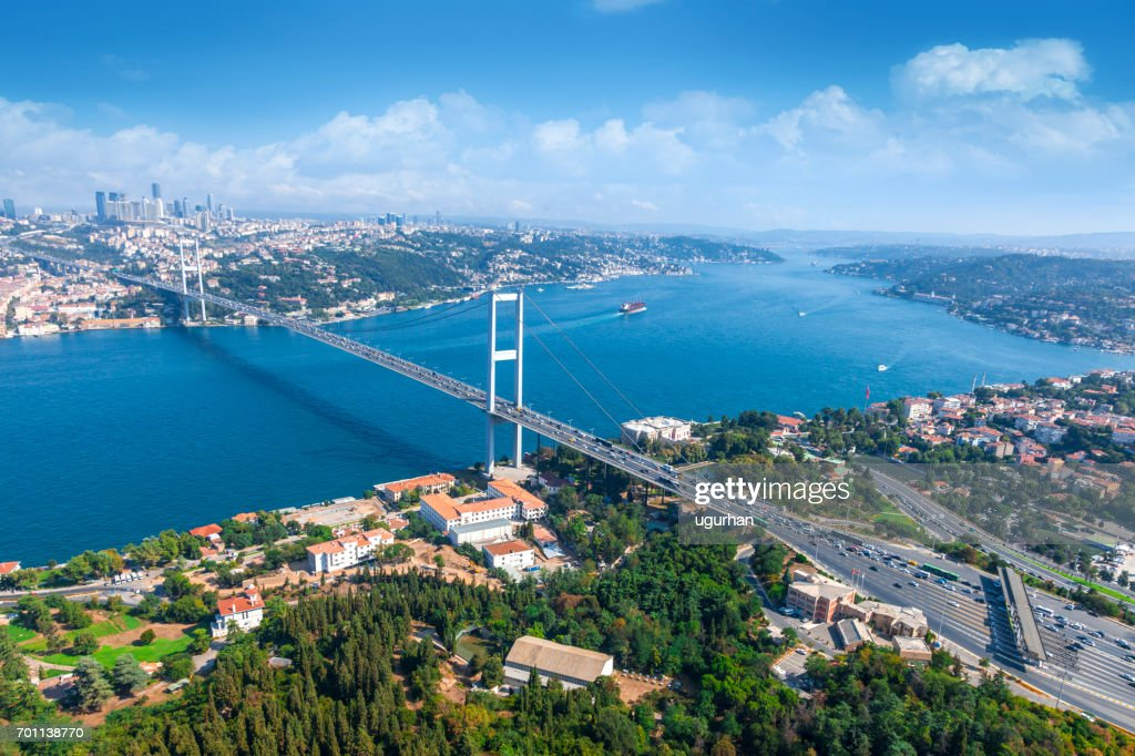 Bosphorus bridge in İstanbul : Stock Photo