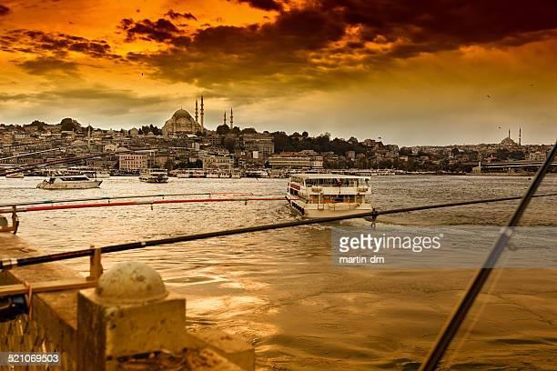 Bosphorus river at sunset
