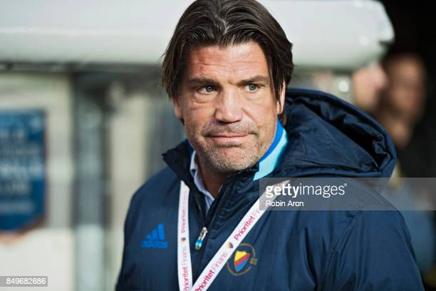Bosse Andersson sports cheif of Djurgardens IF before the Allsvenskan match between IF Elfsborg and Djurgardens IF at Boras Arena on September 19...