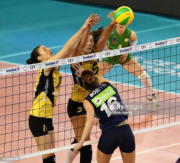 Bossetti Lucia of Fenerbahce Grundig in action during the 2016 CEV DenizBank Volleyball Champions League Final Four match between Fenerbahce Grundig...