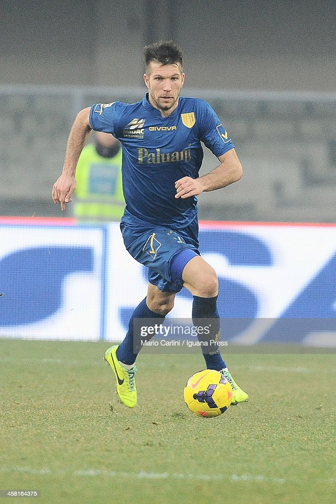 <a gi-track='captionPersonalityLinkClicked' href=/galleries/search?phrase=Bostjan+Cesar&family=editorial&specificpeople=2084483 ng-click='$event.stopPropagation()'>Bostjan Cesar</a> # 12 of AC Chievo Verona in action during the Seria A match between AC Chievo Verona and UC Sampdoria at Stadio Marc'Antonio Bentegodi on December 15, 2013 in Verona, Italy.