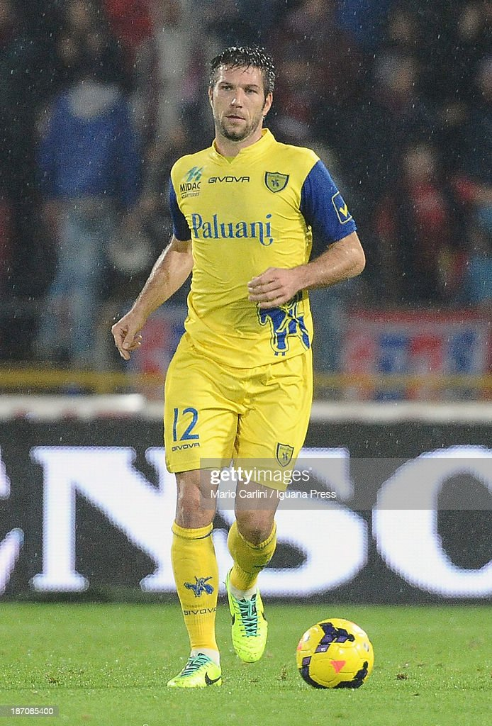 <a gi-track='captionPersonalityLinkClicked' href=/galleries/search?phrase=Bostjan+Cesar&family=editorial&specificpeople=2084483 ng-click='$event.stopPropagation()'>Bostjan Cesar</a> # 12 of AC Chievo Verona in action during the Serie A match between Bologna FC and AC Chievo Verona at Stadio Renato Dall'Ara on November 4, 2013 in Bologna, Italy.