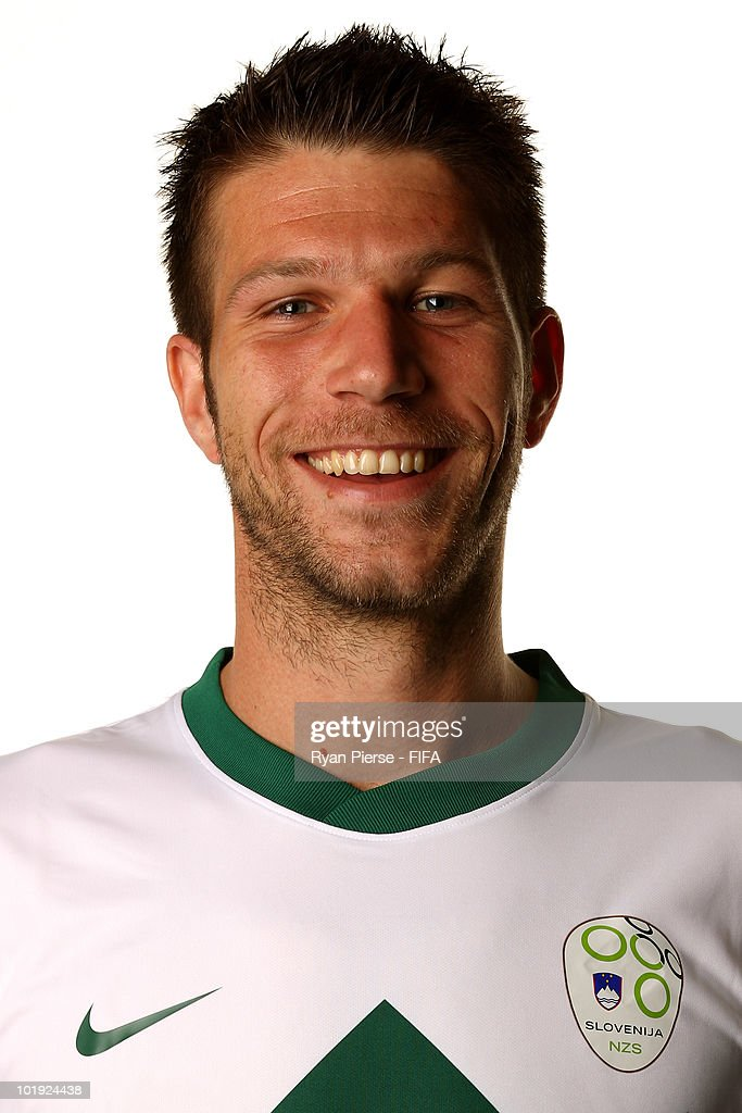 <a gi-track='captionPersonalityLinkClicked' href=/galleries/search?phrase=Bostjan+Cesar&family=editorial&specificpeople=2084483 ng-click='$event.stopPropagation()'>Bostjan Cesar</a> of Slovenia poses poses during the official FIFA World Cup 2010 portrait session on June 9, 2010 in Johannesburg, South Africa.