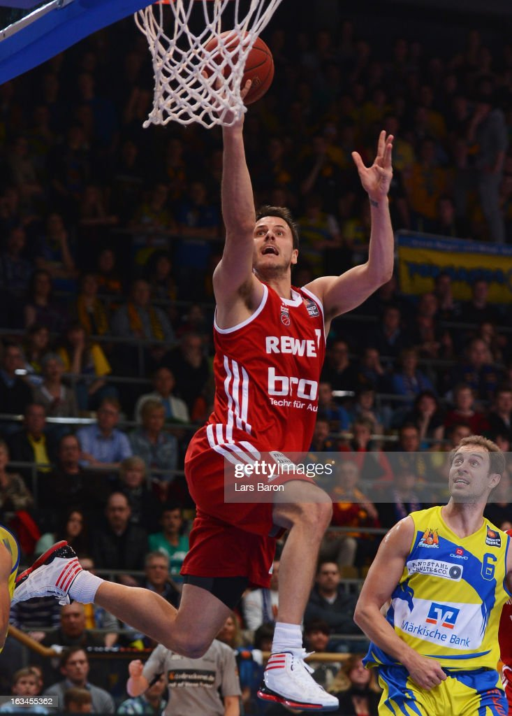 <a gi-track='captionPersonalityLinkClicked' href=/galleries/search?phrase=Bostjan+Nachbar&family=editorial&specificpeople=202138 ng-click='$event.stopPropagation()'>Bostjan Nachbar</a> of Bamberg in action during the Beko BBL Basketball Bundesliga match between Phoenix Hagen and Brose Baskets at ENERVIE Arena on March 10, 2013 in Hagen, Germany.