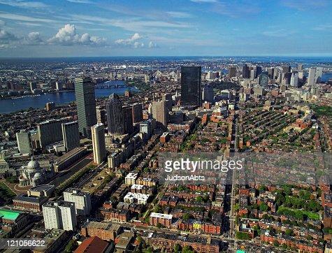 ボストンの空からの眺め