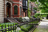 Residential district of Boston Back Bay