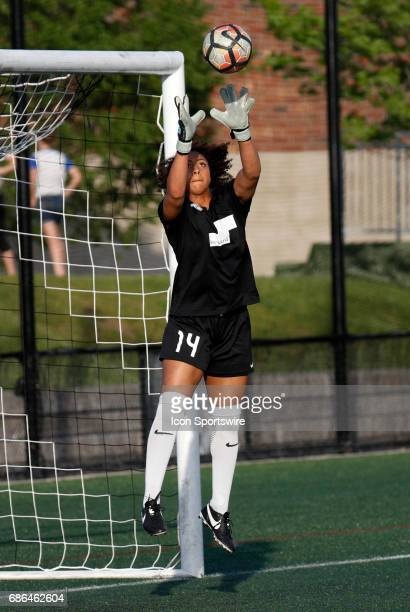 Boston Breakers goalkeeper Abby Smith grabs a cross in warm up before an NWSL regular season match between the Boston Breakers and Portland Thorns FC...