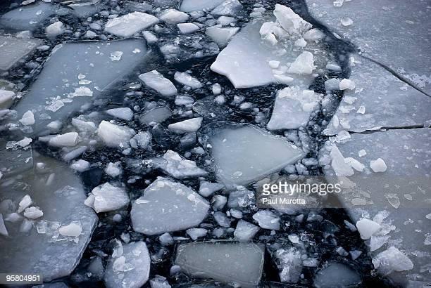 Boston Broken Ice on Charles River