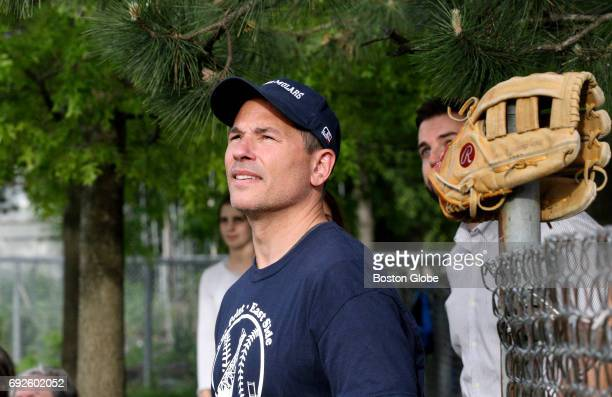 Boston Bruins coach Bruce Cassidy is pictured during a Mighty Molars youth baseball team game in Providence RI on May 23 2017 The team is an AA...