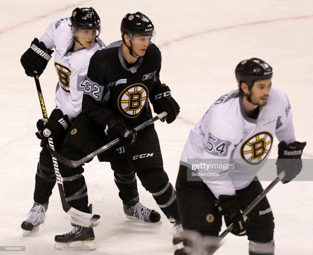 Boston Bruins defenseman Torey Krug (#47) and Boston Bruins defenseman Adam McQuaid (#54) looked to be paired up in defense as they were last year in the playoffs. Boston Bruins training camp practice at TD Garden.