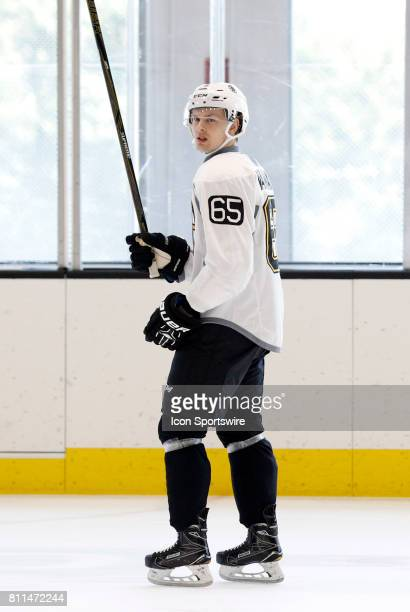 Boston Bruins defenseman Urho Vaakanainen during Bruins Development Camp on July 8 2017 at Warrior Ice Arena in Boston Massachusetts