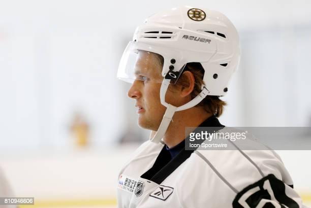Boston Bruins forward Anders Bjork during Bruins Development Camp on July 8 2017 at Warrior Ice Arena in Boston Massachusetts