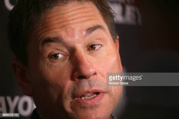 Boston Bruins head coach Bruce Cassidy during the Boston Bruins media availability at the team's hotel in Kanata ONT on April 13 2017