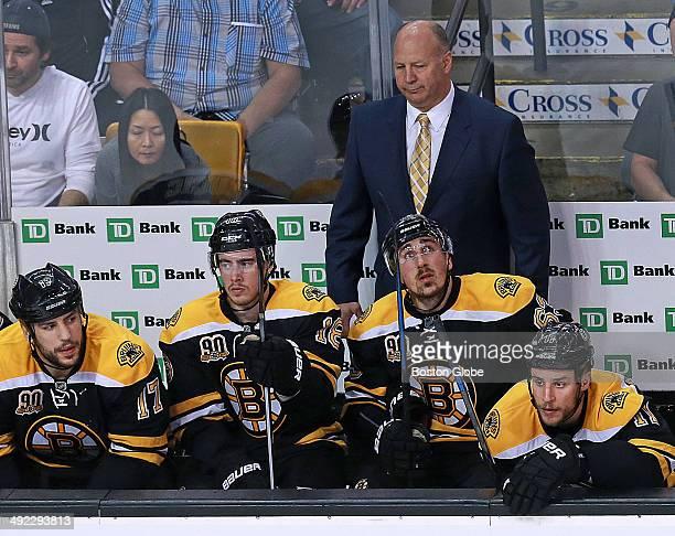 Boston Bruin's head coach Claude Julien and the bench are pictured after Montreal went ahead 20 in the second period The Boston Bruins hosted the...