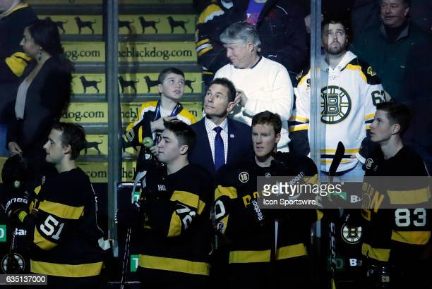 Boston Bruins interim head coach Bruce Cassidy during a regular season NHL game between the Boston Bruins and the Vancouver Canucks on February 11...