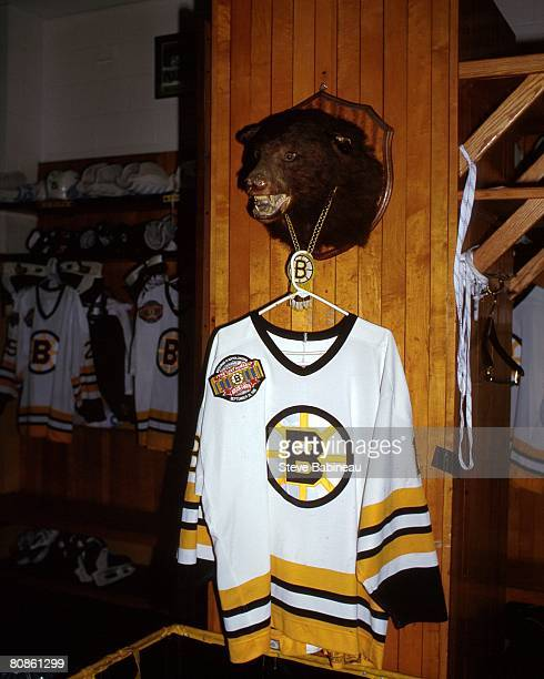 Boston Bruins jersey with special patch worn at 'Last Hurrah' ceremony celebrating the closing of Boston Garden on September 281995