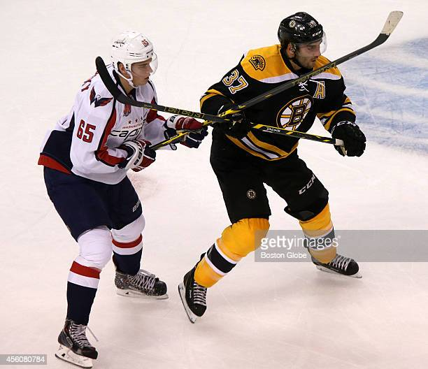 Boston Bruins play Washington Capitals in a preseason exhibition game at TD Garden