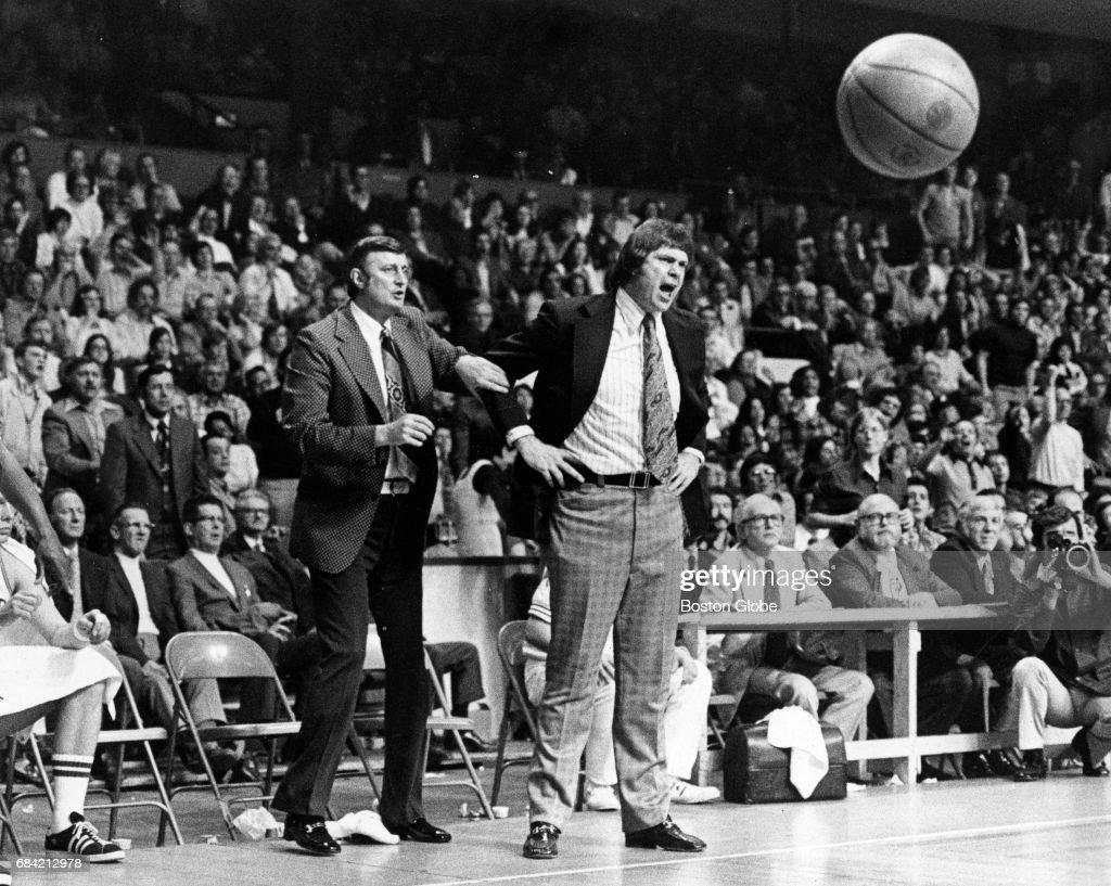 Boston Celtics Coaches Tom Heinsohn And John Killilea