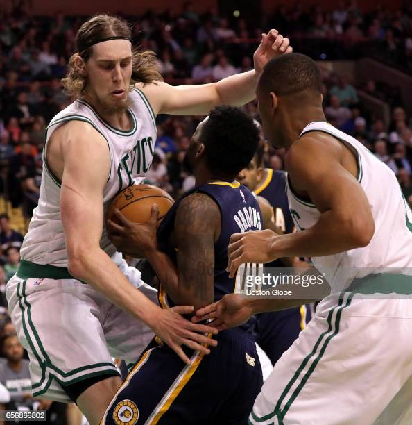 Boston Celtics center Kelly Olynyk is all over Indiana Pacers guard Aaron Brooks on this play in the fourth quarter The Boston Celtics host the...