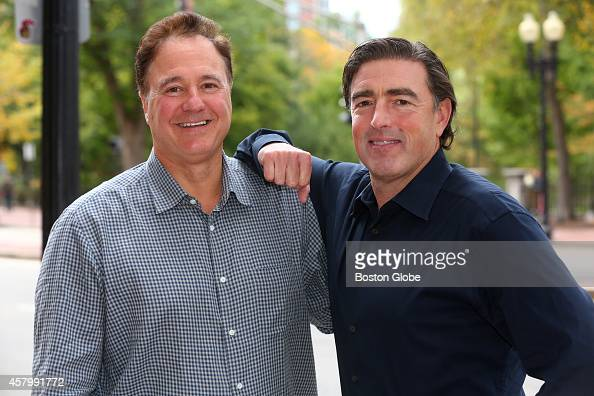 Boston Celtics coowners Steve Pagliuca left and Wyc Grousbeck are photographed on Sunday October 19 2014
