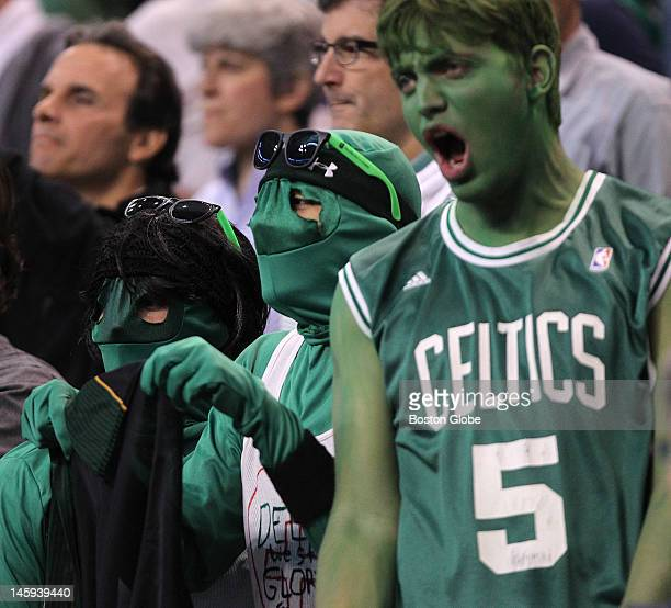 Boston Celtics fans cheer before the start of the game Boston Celtics NBA basketball action and reaction The Celtics play the Miami Heat in game six...