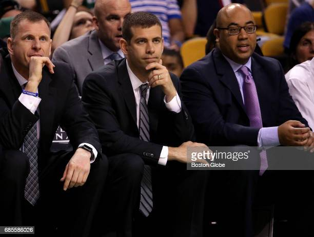Boston Celtics head coach Brad Stevens and his coaching staff could do nothing against the Cleveland Cavaliers as they watch the final minutes tick...