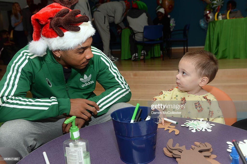 Boston Celtics Phil Pressey spends time with Jacob at Boston Children ...