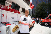 Boston Celtics point guard and NBA AllStar Isaiah Thomas celebrates the Good Humor Welcome to Joyhood campaign with fans in Boston on June 30 2016