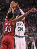 Boston Celtics small forward Paul Pierce takes a shot in the first quarter Boston Celtics NBA basketball action and reaction The Celtics play the...