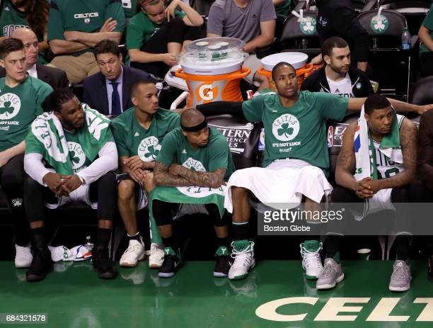 Boston Celtics starters have plenty of time to watch the final moments of the night's 117104 loss from the sideline The Boston Celtics host the...