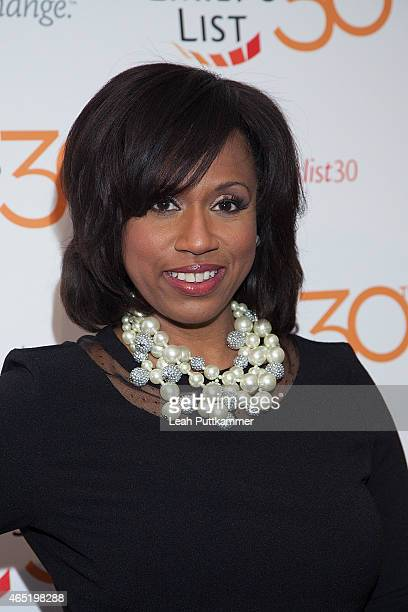 Boston City Councillor Ayanna Pressley attends the EMILY's List 30th Anniversary Gala at Hilton Washington Hotel on March 3 2015 in Washington DC
