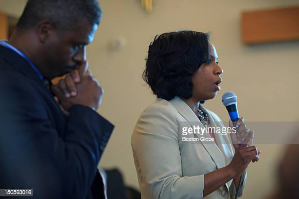 Boston City Councillor Ayanna Pressley spoke to community leaders and residents concerned with the escalating and highprofile violence plaguing...