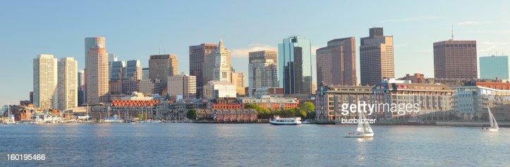 Boston City Panorama : Stock Photo