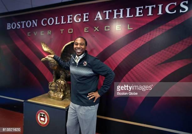 Boston College Athletic Director Martin Jarmond poses for a portrait inside Conte Forum in Newton MA on Jun 28 2017