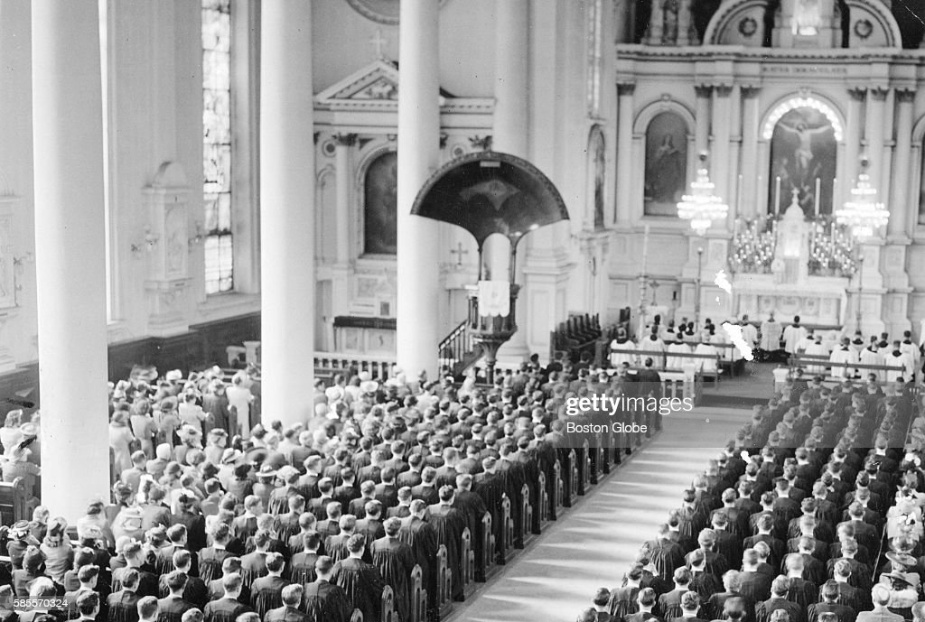 Boston College Baccalaureate Services at Immaculate Conception Church in the South End May 11 1942