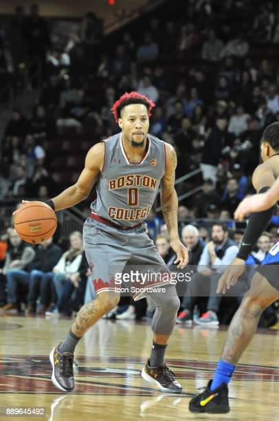 HILL MA Boston College Eagles guard Ky Bowman gets ready to drive to the basket During the Boston College Eagles game against the Duke Blue Devils on...