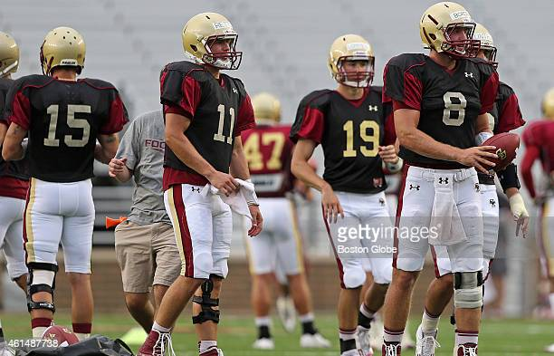 Boston College Eagles quarterback Chase Rettig is expected to be the season starting quarterback with Eagles quarterback Josh Bordner also getting...