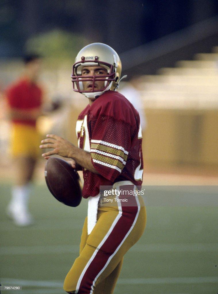 Boston College Eagles quarterback Doug Flutie circa the early1980s Flutie won the Heisman Trophy in 1984