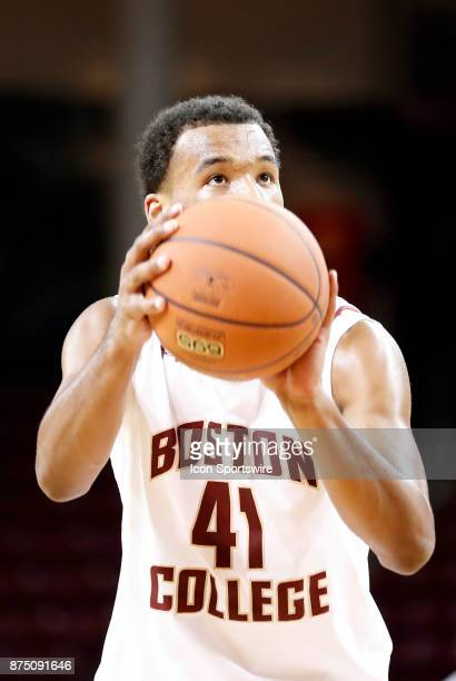 Boston College forward Steffon Mitchell at the charity stripe during a game between the Boston College Eagles and the Sacred Heart University...