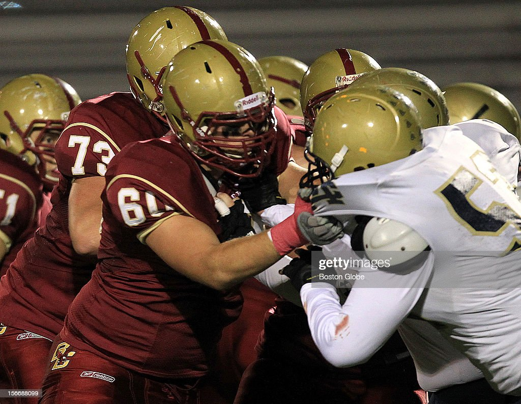 Boston College High School against Malden Catholic High School football at the Boston College High School. A recent first of its kind review from more than 100 schools and districts in the state had Boston College High School reporting the highest number of head injuries sustained during extracurricular athletic activities and leading the list at 76.