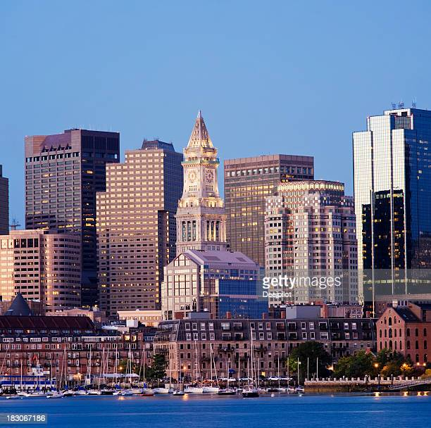 Boston Customs House City Skyline USA