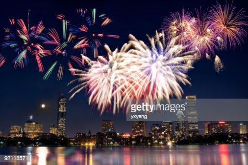 ボストン 7 月 4 日の国慶節の花火大会