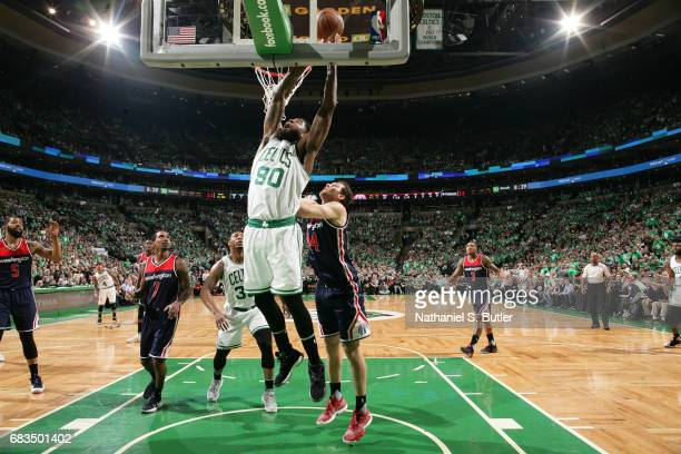 Amir Johnson of the Boston Celtics shoots the ball against the Washington Wizards during Game Seven of the Eastern Conference Semifinals of the 2017...