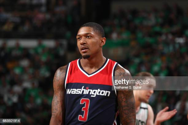 Bradley Beal of the Washington Wizards is seen during the game against the Boston Celtics during Game Seven of the Eastern Conference Semifinals of...