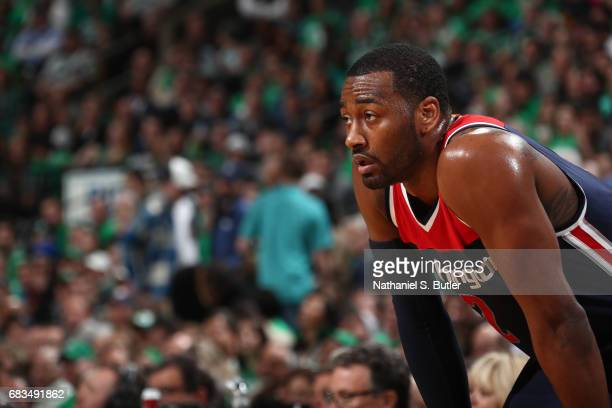 John Wall of the Washington Wizards is seen during the game against the Boston Celtics during Game Seven of the Eastern Conference Semifinals of the...