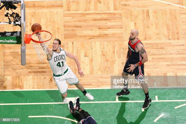 Kelly Olynyk of the Boston Celtics shoots the ball against the Washington Wizards during Game Seven of the Eastern Conference Semifinals of the 2017...