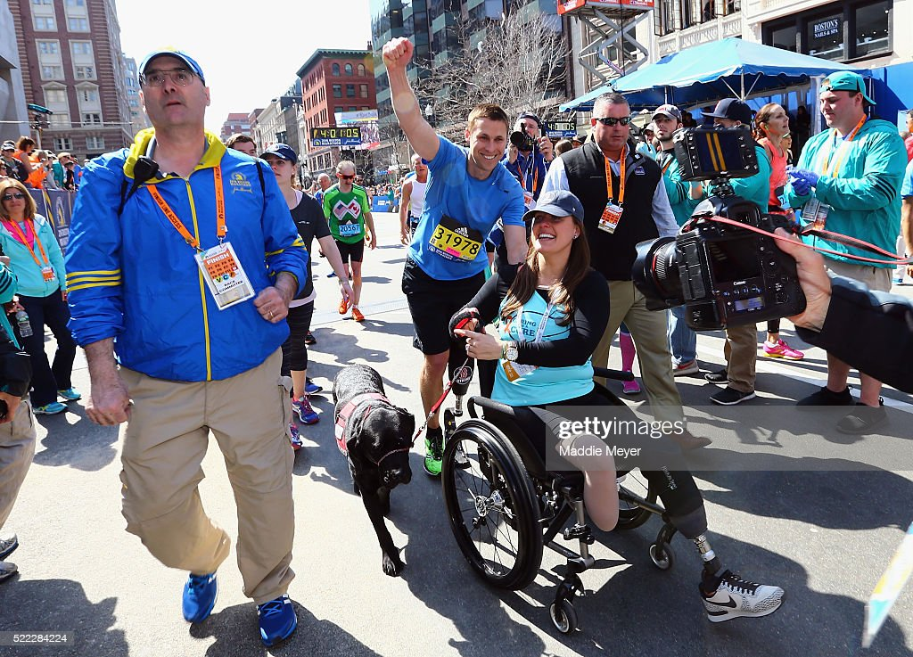 ... Boston Marathon on April 18, 2016 in Boston, Massachusetts. Show more
